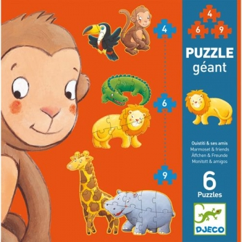 Puzzle - Marmoset & friends - 4, 6, 9pcs