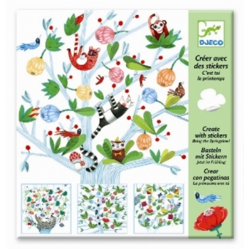 Create with stickers - Bring the Springtime!