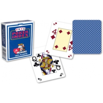Poker Cards (mini index, blue)