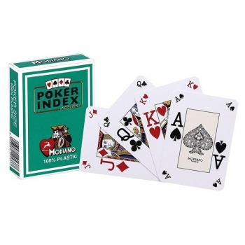 Poker cards (mini index, green)