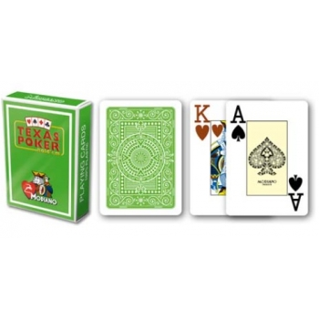 Texas Poker cards (jumbo, green)