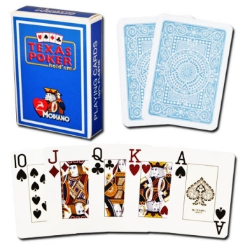 Texas Poker cards (jumbo, light blue)