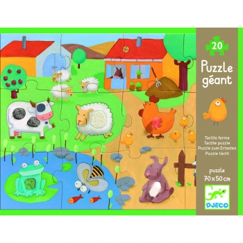 Giant Puzzle - Tactile farm puzzle - 20+8pcs