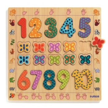 Wooden puzzle - 1 to 10