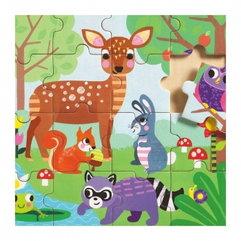Educational wooden puzzle - Forest