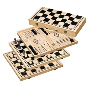 Chess-Backgammon-Checkers-Set 50mm