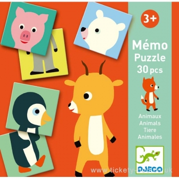 Educational games - Memo Animo-puzzle