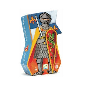 Silhouette puzzle - The knight at the dragon's - 36 pcs