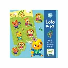 Educational wooden games - Lotto 4 friends