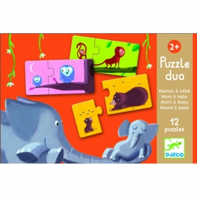 Duo-Trio Puzzles - Mom and baby