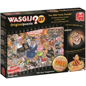 """Pusle """"Wasgij Original 27, The 20th Party Parade!"""", 2in1, 2x1000 tk"""