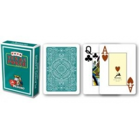Texas Poker cards (jumbo, dark green)