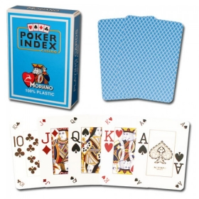 Poker cards (mini index, light blue)