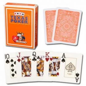 Texas Poker cards (jumbo, orange)