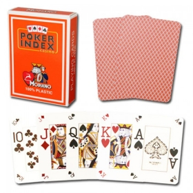 Poker cards (mini index, orange)