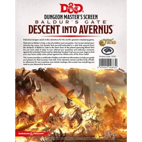 D&D 5th DM Screen Descent into Avernus