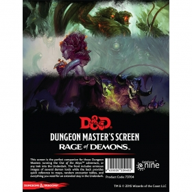 D&D 5th DM Screen Rage of Demons