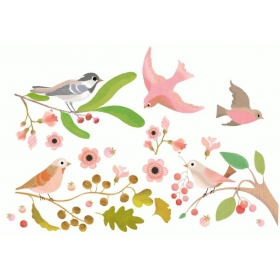 Windows stickers - Romantic birds