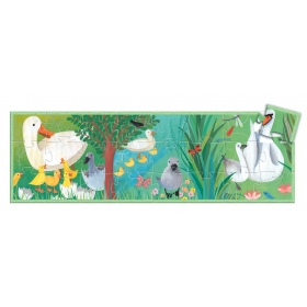 Silhouette puzzles - The ugly duckling - 24pcs