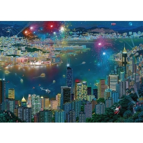 Fireworks over Hong Kong