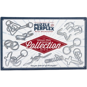 Puzzle and Perplex: Set of 10 Metal Puzzles