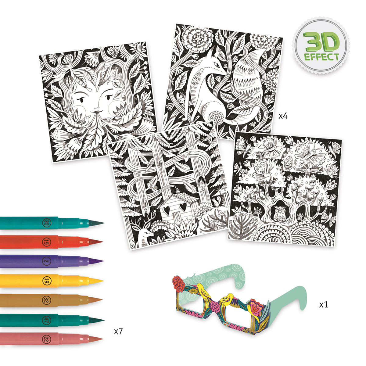 3D Colouring - Fantasy Forest